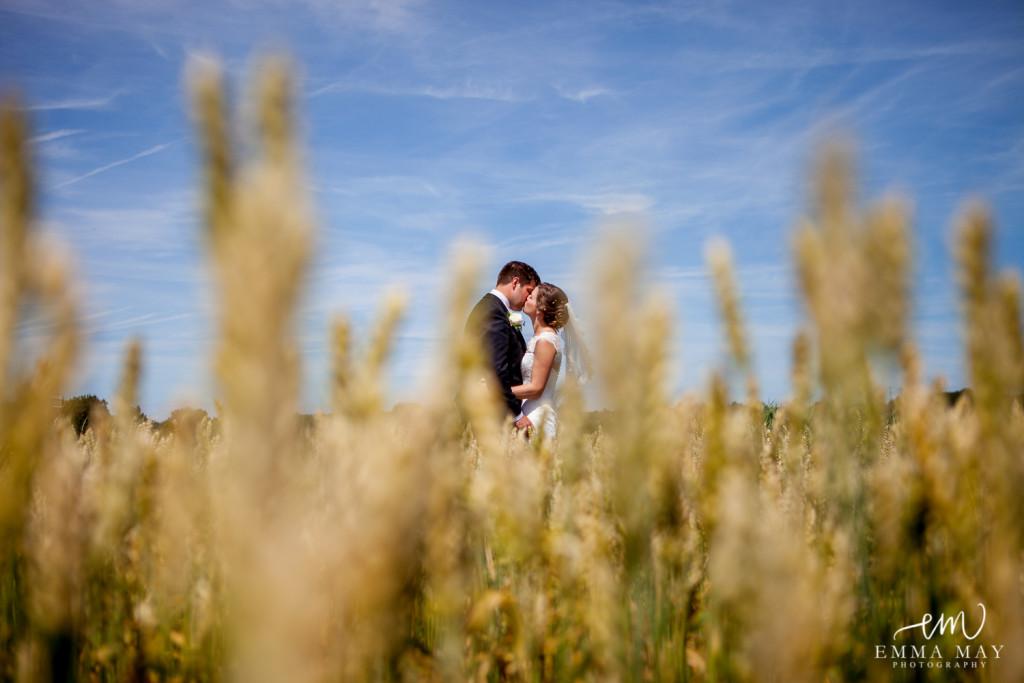cornfield wedding photography