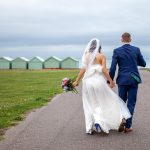 brighton beach huts wedding