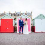 hove beach huts wedding